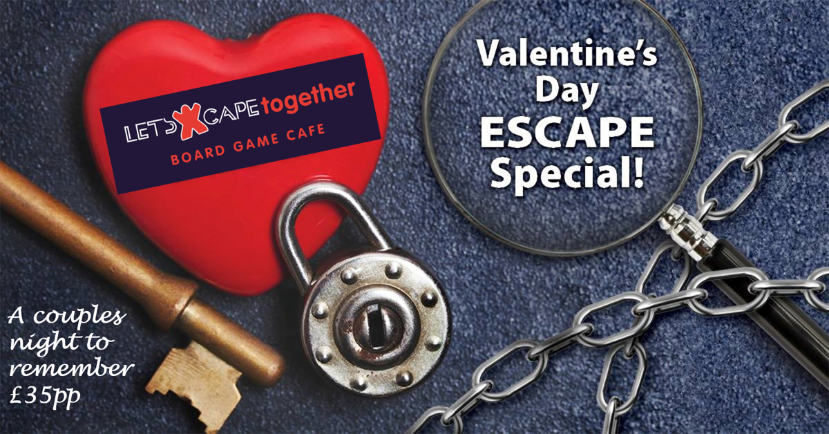 letsXcape board game Valentines Evening Event Newark on Trent